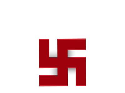 The swastika symbol, 卐 MINIMAL DESIGN symbol swastika hindulogo design logo minimal modern design 2021 design illustrator graphic design