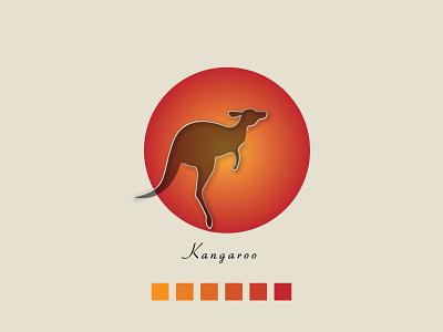 kangaroo minimal modern logo design modern minimalism conceptlogo animal kangaroo illustration logo design branding minimal modern design 2021 design illustrator graphic design