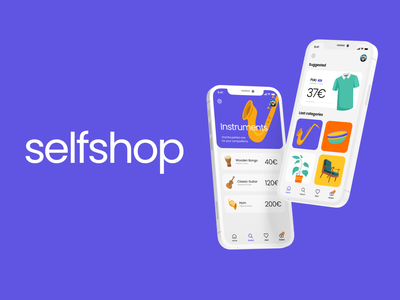 Selfshop Mobile App e-commerce mobile app ui uiux ux uxdesign mobile design illustration shop online shop online shopping mobile colors illustrator sketch mobile app design animation motion mobile ui