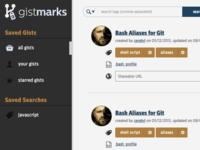Snapshot of Gistmarks Prototype v2