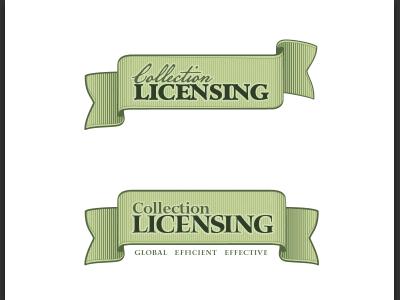 Collection Licensing Logo Concepts logo design retro banner usd