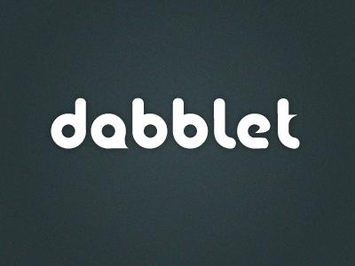 Dabblet Rebound logo design concept redesign