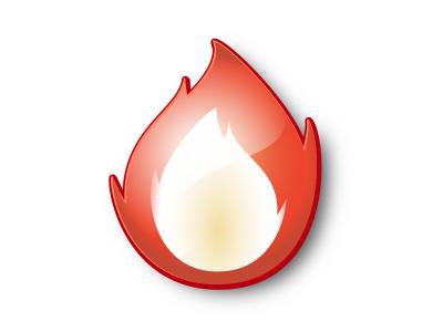 Custom Ember Icon pure vector glossy icon design graphic design