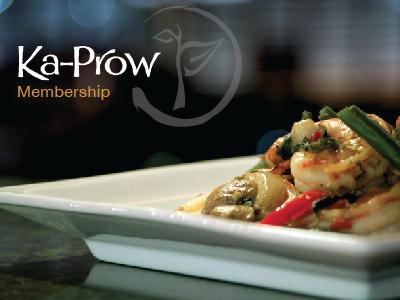 Ka Prow Membership Card print photography brand food