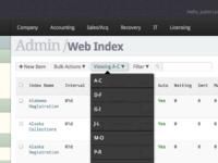 Financial Web App UI & IxD (Alpha)