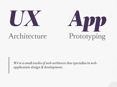Site Redesign for Cerebral Ideas typography web design responsive minimal
