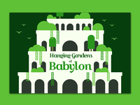Hanging Gardens of Babylon Postcard