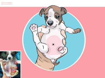 Save Buckeye custom artwork dog animals comic book