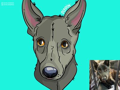 Save Pippin custom graphic shelter t-shirt donate nonprofit charity pets animal art dog art puppies puppy dogs custom artwork animals graphic design illustration dog branding comic book