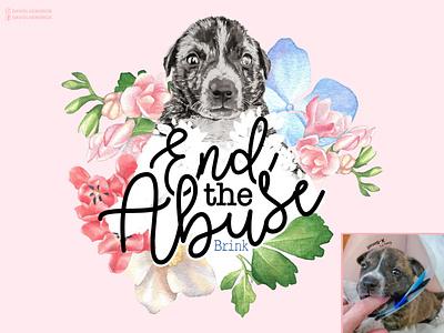 Save Brink david hendrickson charity watercolor branding ui logo custom artwork dog vector design animals graphic design illustration
