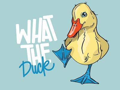 What The Duck! custom bird vector logo branding custom artwork design animals graphic design illustration birds bird duck graphic art dick design funny duck duck products duck saying duck graphic duck art ducks duck