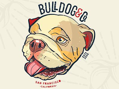 Bulldog Logo Concept funny quote logo branding custom artwork design animals graphic design illustration dog quote bulldog quote funny dog funny bulldog dog graphic bull dog graphic dog art bull dog art dog logo bull dog logo dog bull dog