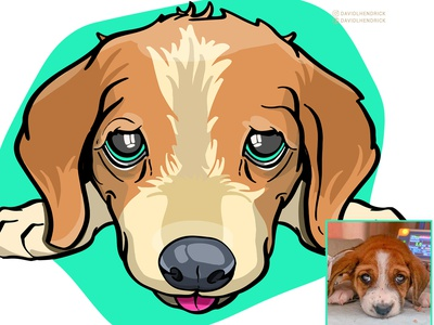 A Portrait Of A Rescue vector dog logo animal graphics puppy graphic dog graphic hand drawn puppy nursery sad puppy puppy artwork puppy drawing puppy logo puppy logo dog branding custom artwork design animals graphic design illustration