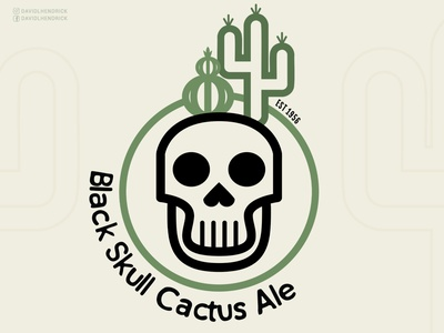 Black Skull Cactus Logo ui vector custom artwork design logo branding animals graphic design illustration skulls skull beer logo ale logo brewer logo brewery logo logo concept logo concept ale beer logo beer skull logo skull