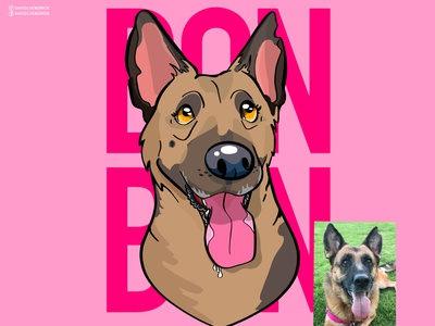 Bon Bon nonprofit charity cute dog funny dog nursery art custom illustration logo branding vector custom artwork design animals graphic design illustration dogs dog artwork dog dog logo german shepherd logo german shepherd
