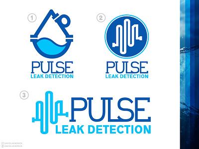 Leak Detection Logo blue collar blue logo custom logo ui logo branding graphic design illustration construction logo water plumbing logo plumbing leak detection leak
