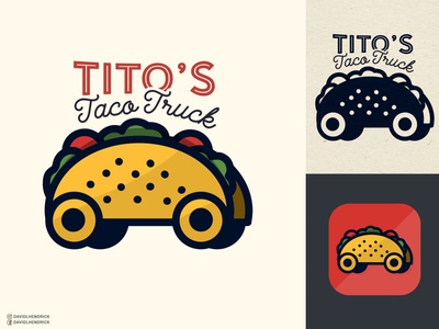 Tito's Taco Truck design ui vector branding logo custom artwork graphic design food restaurant logo restaurant food truck logo food truck mexico latino logo mexican logo food logo mexican food taco logo taco truck taco