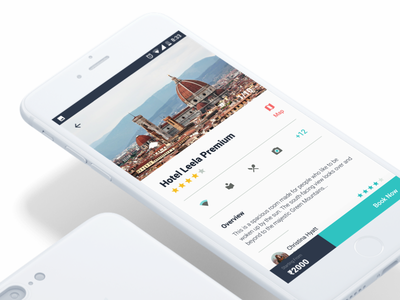Hotel app - Details Page user interface neat white ux details detail hotels application app ui android