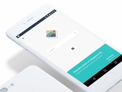 Hotels - Search for deals minimal offer logo icon neat search white hotels application app ui android