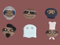 Sloth Heads 01