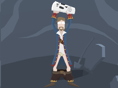 Guybrush and Manny video games monkey island grim fandango illustration vector