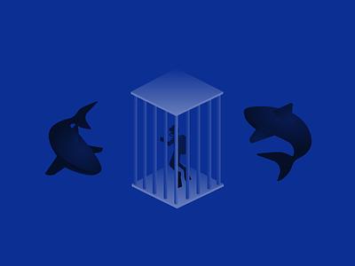 Shark Tank illustration vectordailies vector shark