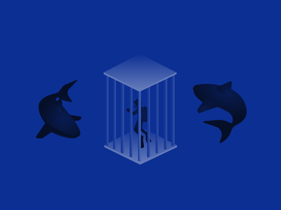 Shark Tank illustration vectordailies vector shark
