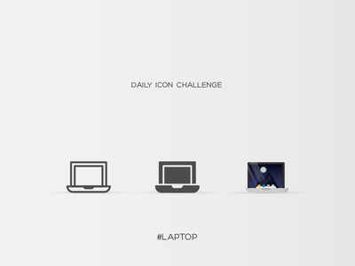 Daily Icon Challenge #laptop #017