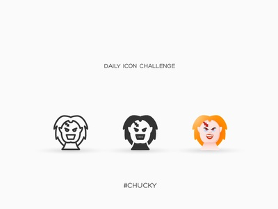 Daily Icon Challenge #chucky #025