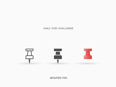 Daily Icon Challenge #paper-pin #029