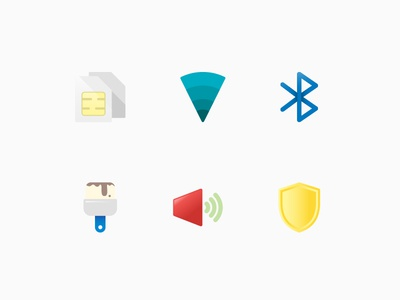 General UI Color icons