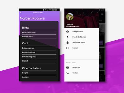 ~ Cinema App | Profile | Redesign Exercise ~