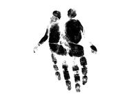 Hand Print Couple