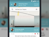 View Message slider action