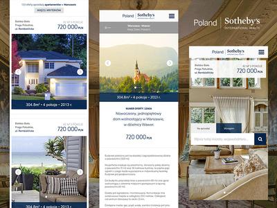 Poland Sotheby's - Responsive Web Design