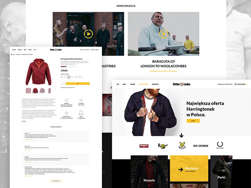 Clothes of London streetwear e-commerce online store ecommerce web design website
