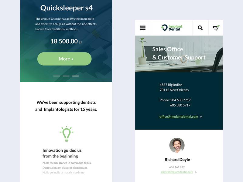 👨🏼🔬 Implant Dental - mobile project medicine startup dribbble dentist ui stomatology ux tech mobile design minimal webdesign