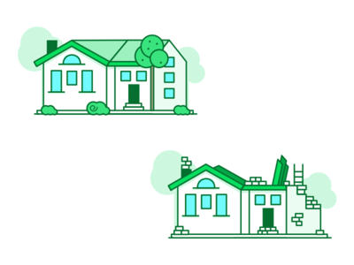 Houses 🇳🇴 building icon dwelling house minimal illustration