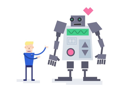 Love Machine product design love robot minimal talebook dribbble illustration