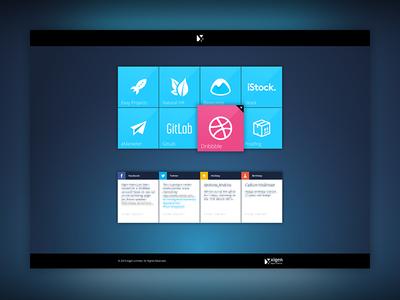 Xigen Intranet Dashboard icons grid tile portal intranet dashboard ux ui web design website design xigen
