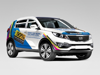 Epson Kia Sportage Wrap sportage kia printers its epson vinyl print wrap vehicle car design xigen