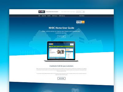NHBC Home User Guide Landing Page navigation gradient nhbc ui clean website landing page app design html css