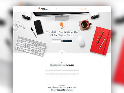 BedfordTranslations Concept clean translation landing page landing website web design