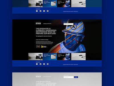 Epson Maintenance Splash blue interactive ux ui web landing splash holding maintenance epson