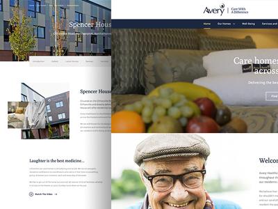 Avery Healthcare Landing elderley ux ui web landing home care health avery