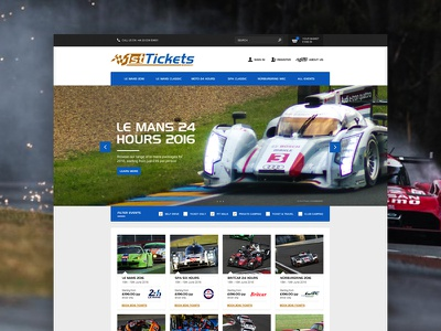 1st Tickets Homepage Concept speed tickets racing car concept web ux ui landing home