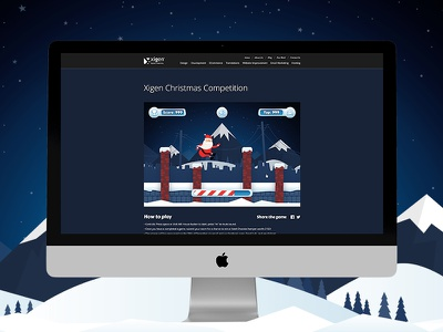 Xigen 2016 Christmas Game ui platform game santa christmas