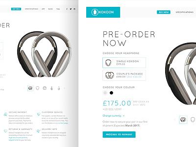 Kokoon Product Landing 800x600 web ui simple clean product landing ecommerce kokoon