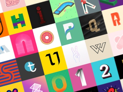 #36daysoftype numbers letters illustration type of days 36