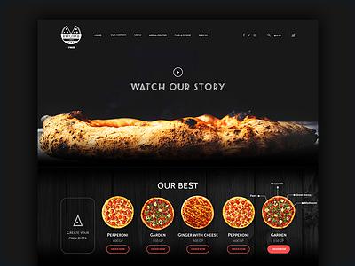 Rhodia Pizza landing web ux ui pizza